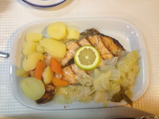 Grilled Salmon - Lisbon, Portugal